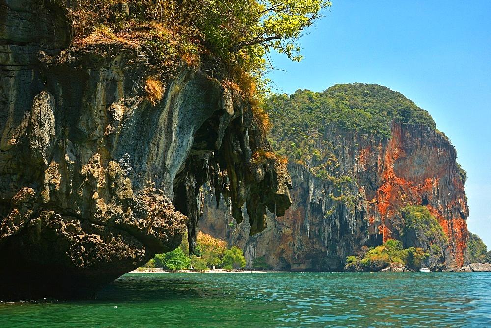 Phranang Bay cliffs. Thailand.