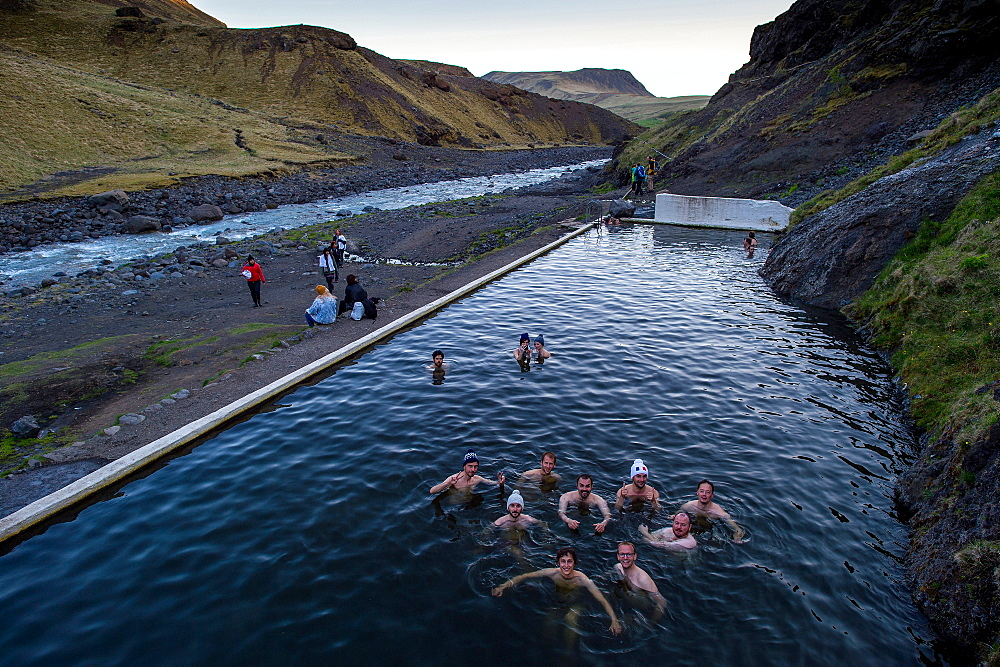 Seljavallalaug hot pool, Iceland, Polar Regions