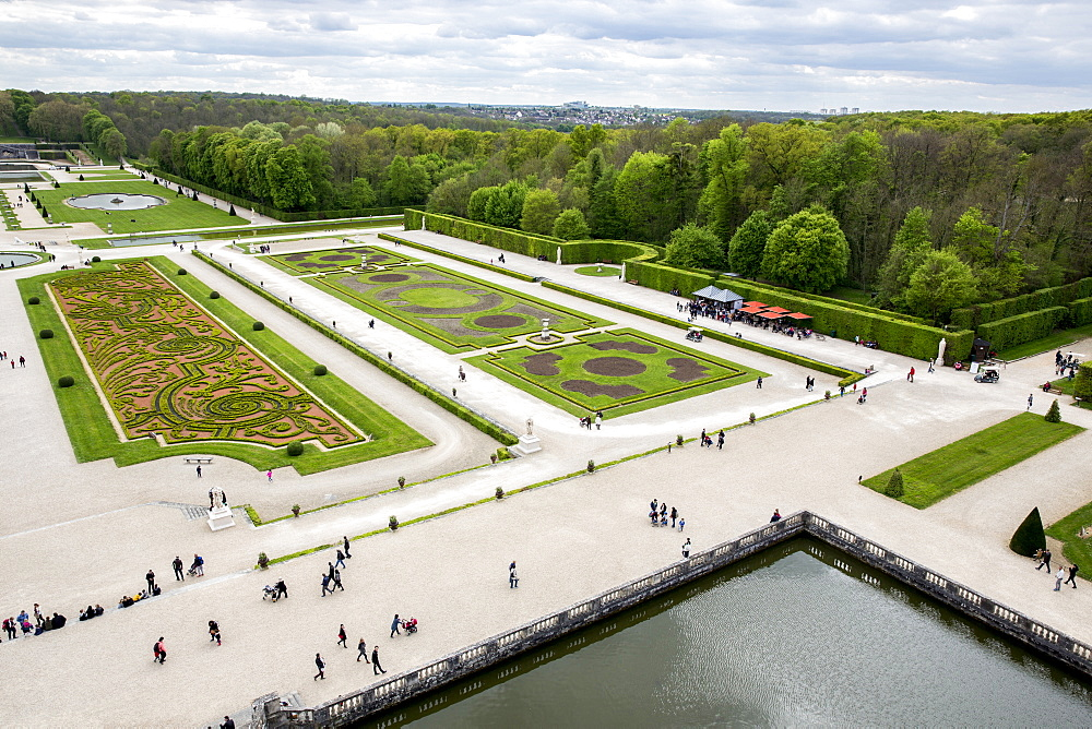 View from Vaux-le-vicomte castle. France.