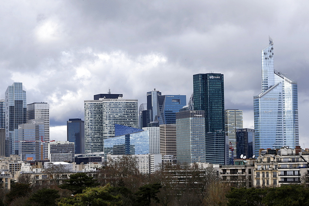 Skyline of La Defense business district, Paris, France, Europe