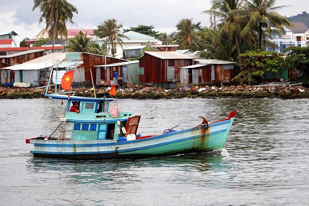 Duong Dong harbor. Fishing boat. Phu Quoc. Vietnam.