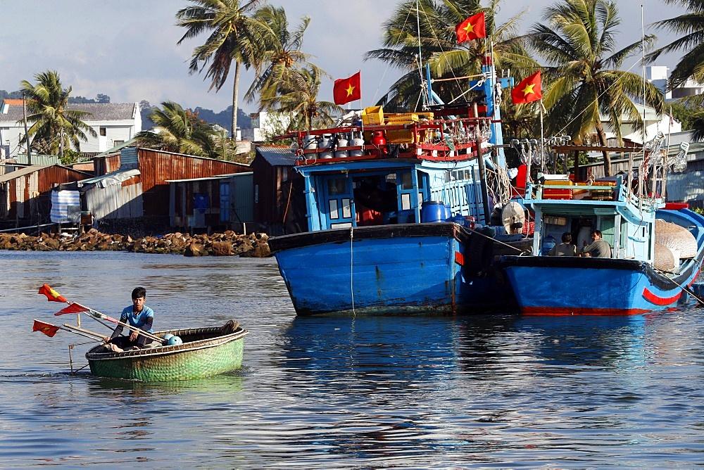 Duong Dong harbor. Fishing boats. Phu Quoc. Vietnam.