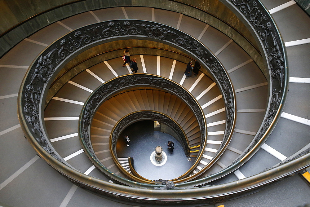 Vatican museums, Rome. Spiral staircase. Italy.