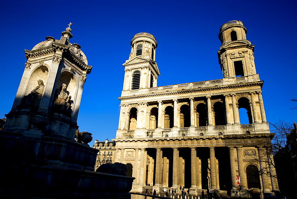 Saint Sulpice Catholic Basilica, Paris, France, Europe