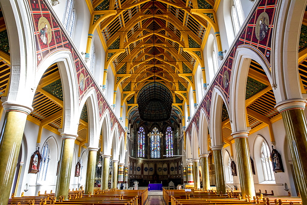 Nave, St. Peter's Catholic Cathedral, Belfast, Ulster, Northern Ireland, United Kingdom, Europe