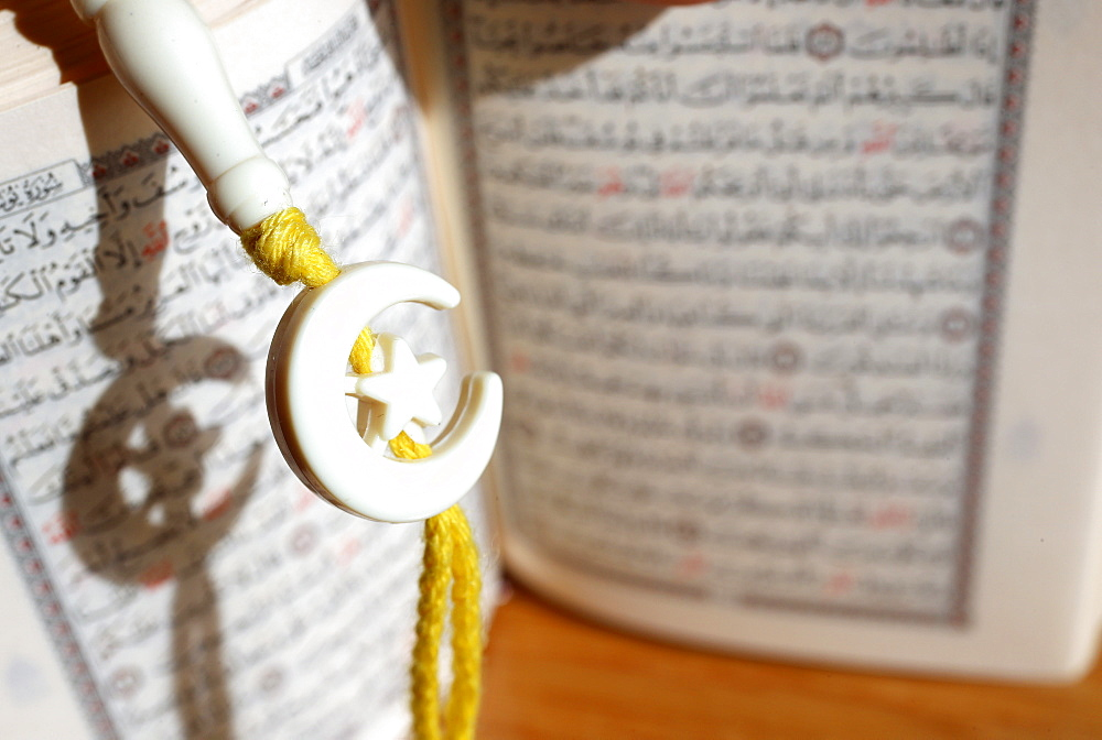 Quran and Tasbih (prayer beads), Vietnam, Indochina, Southeast Asia, Asia