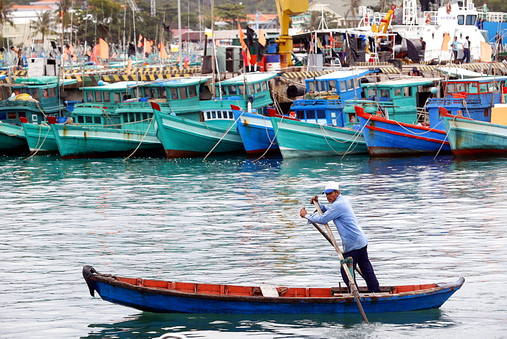 Fishing boats, An Thoi harbour, Vietnam, Indochina, Southeast Asia, Asia - 809-7634