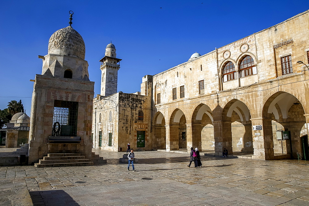 Shrines on the Haram esh-Sharif (Al Aqsa compound) (Temple Mount), UNESCO World Heritage Site, Jerusalem, Israel, Middle East - 809-7652