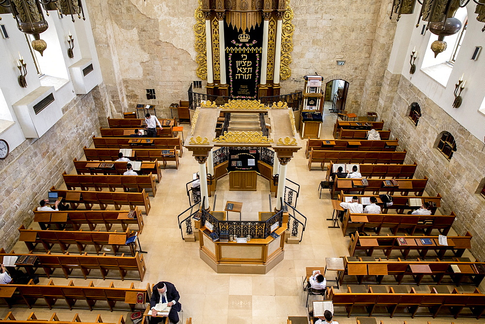 Hurva Synagogue, Jerusalem old city, Israel, Middle East - 809-7656