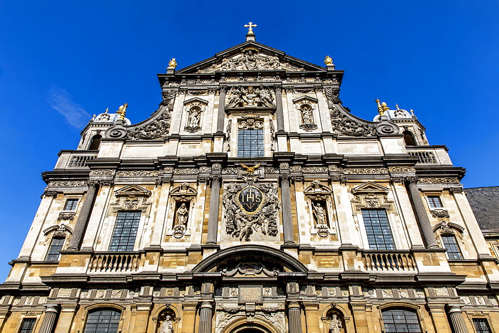 St Carolus Borromeus catholic church, Antwerp, Belgium. Facade.