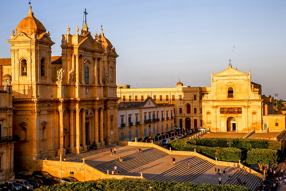 San Nicolo Cathedral, Noto, UNESCO World Heritage Site, Sicily, Italy, Europe