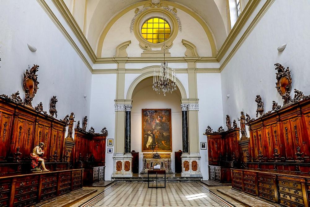 San Domenico church sacristy, Palermo, Sicily, Italy. Sacristy built in 1720 by dominican architect G.B. Ondars,