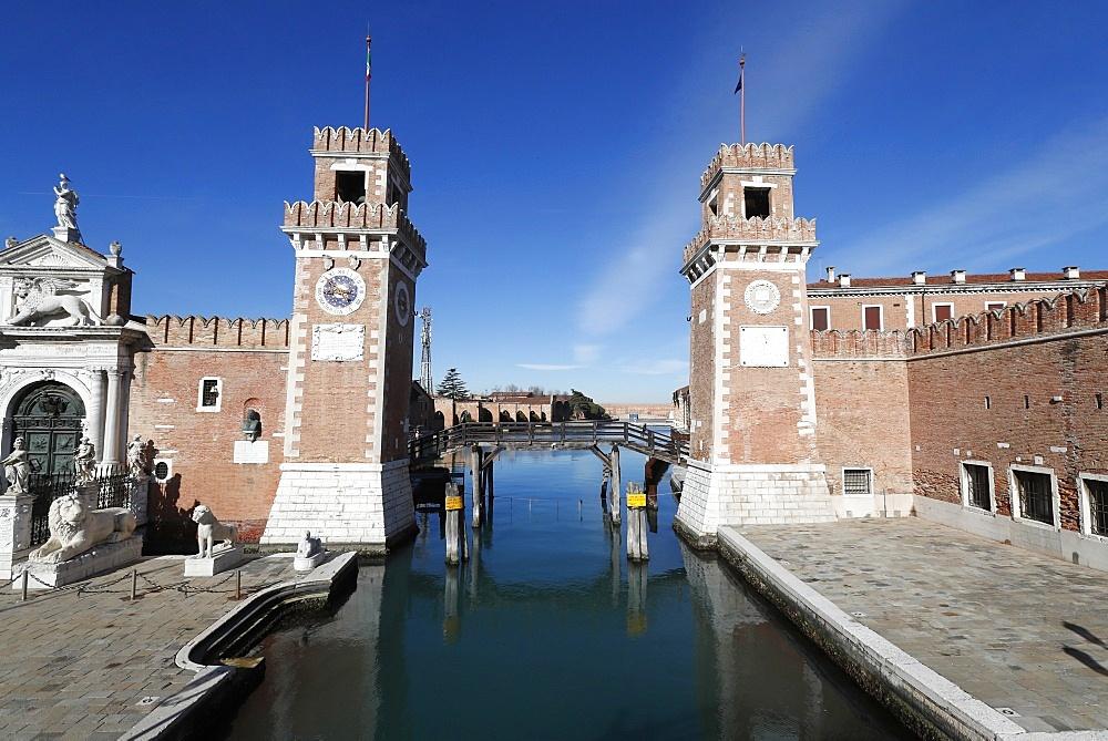 The Venetian Arsenal, Venice, UNESCO World Heritage Site, Veneto, Italy, Europe