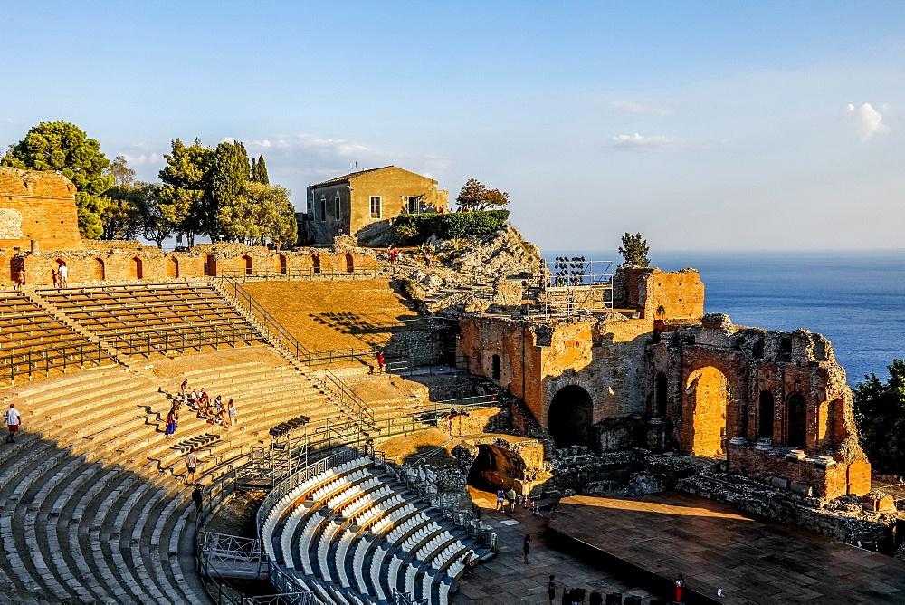 Taormina Greek theater, Sicily, Italy.