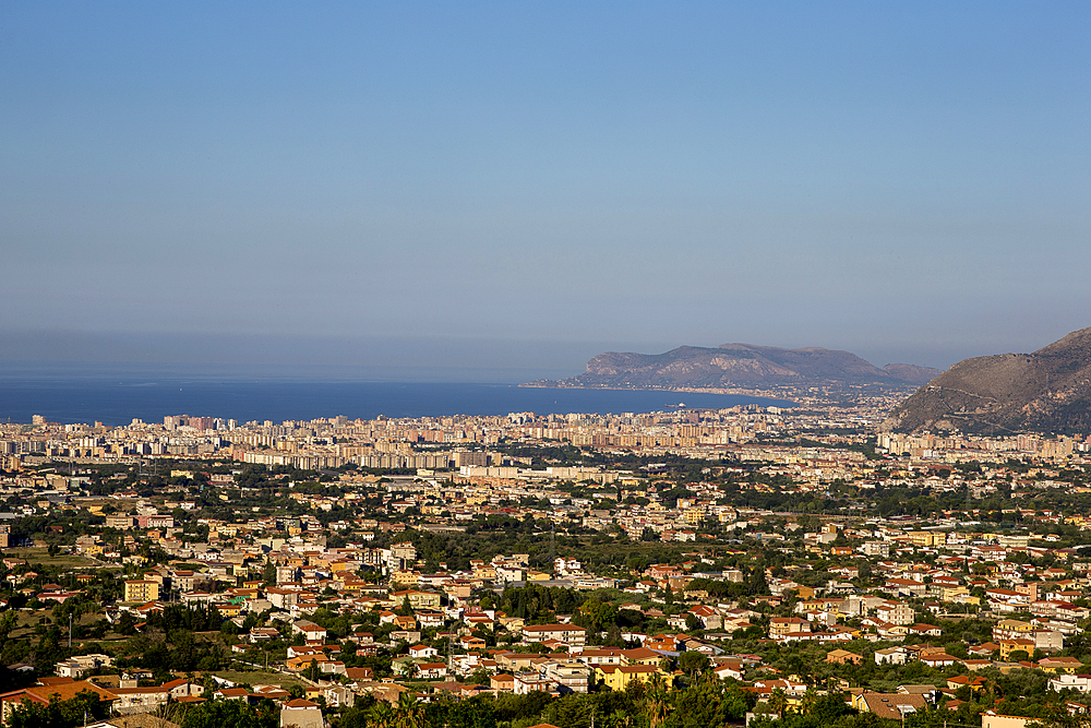 Palermo city seen from Monreale, Sicily, Italy.