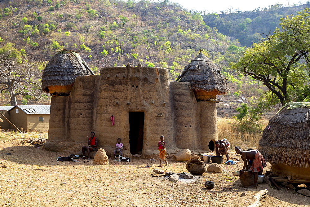 Koutammakou village in North Togo, West Africa, Africa - 809-7844