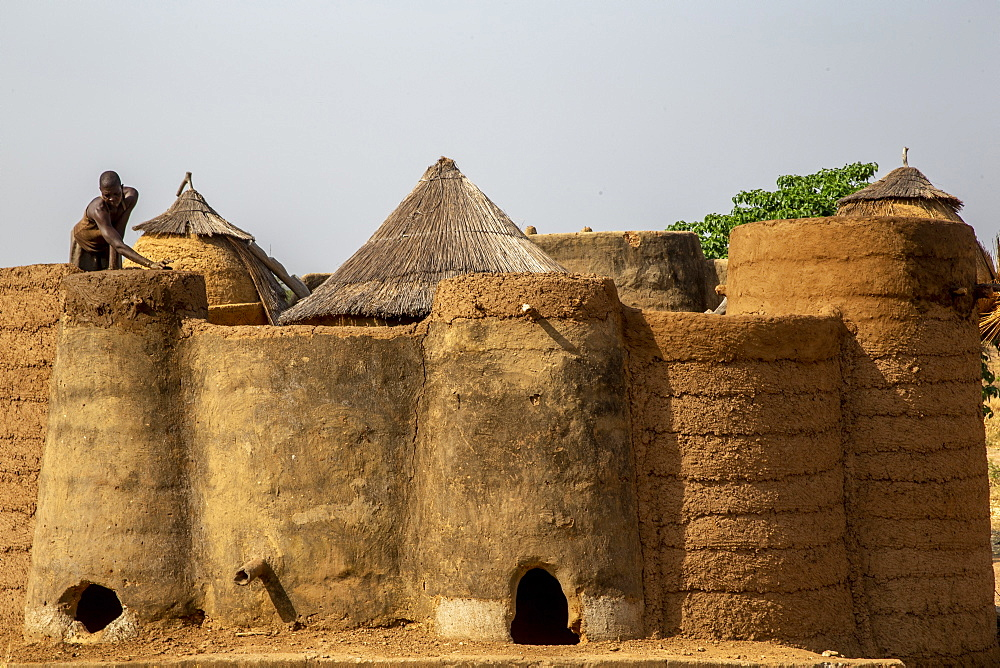 Batammariba house building in a Koutammakou village in North Togo, West Africa, Africa - 809-7846