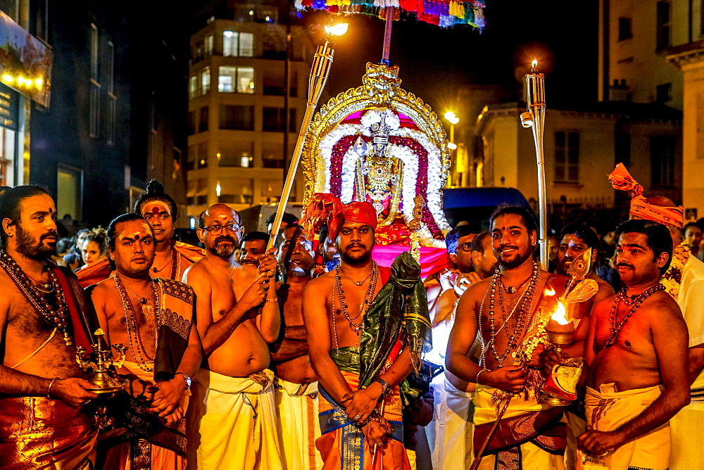 Tamil Hindus celebrating a festival for Muruga (Ganesha's brother) in Paris, France, Europe - 809-7886
