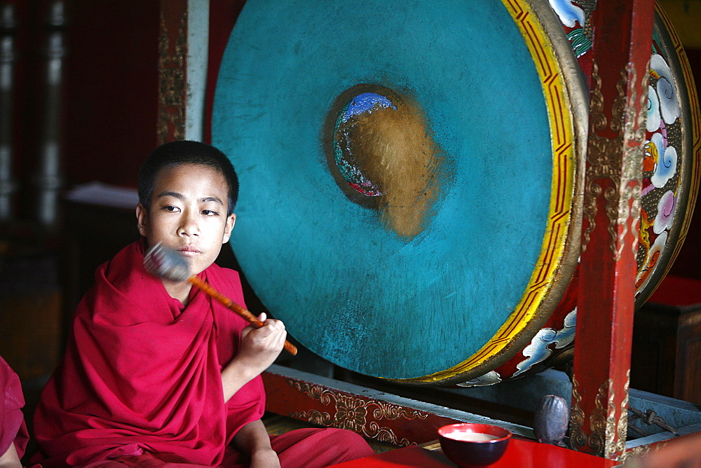 Buddhist ceremony, Swayambhunath temple, Kathmandu, Nepal, Asia