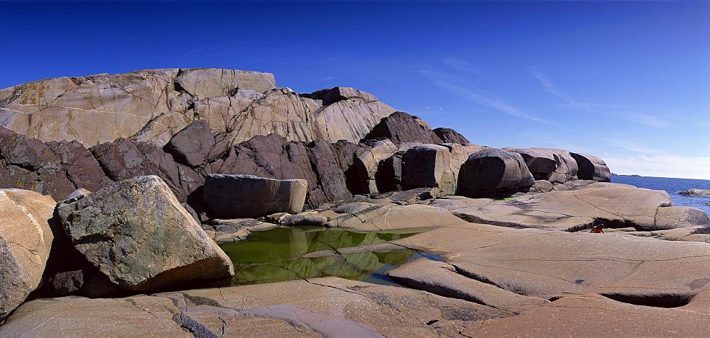Rocks at Bohuslan, Maskar, Koster Islands, Sweden, Scandinavia, Europe