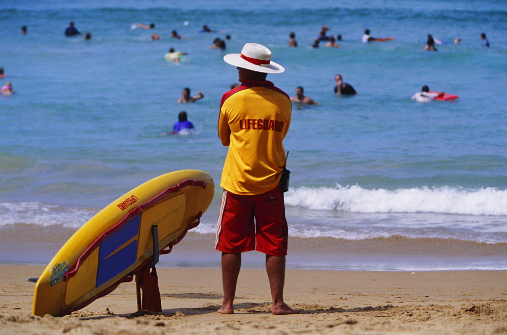 Life guard, Avalon Beach, New South Wales, Australia, Pacific - 812-137