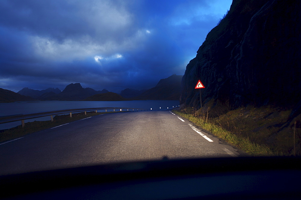Deserted road, Lofoten Islands, Norway, Scandinavia, Europe - 812-151