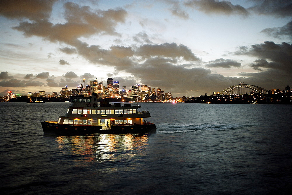 Ferry sailing across Sydney harbour, Sydney, New South Wales, Australia, Pacific