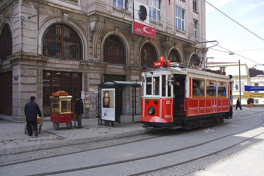 Taksim Tunnel Tram at Tunnel Square, Istanbul, Turkey, Europe - 812-92
