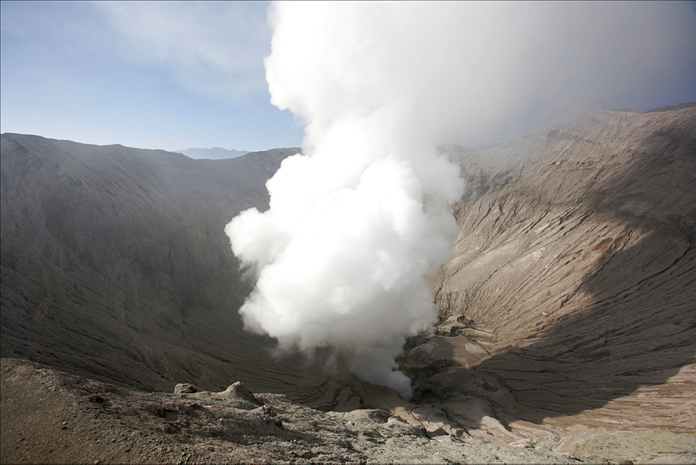 View of the crater of the Bromo volcano, Tengger Caldera, Java, Indonesia, Southeast Asia, Asia