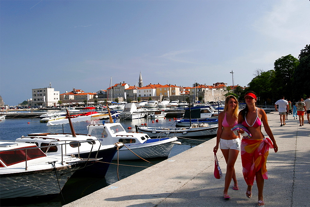 The small village of Budva is very popular during the summer, Montenegro, Europe
