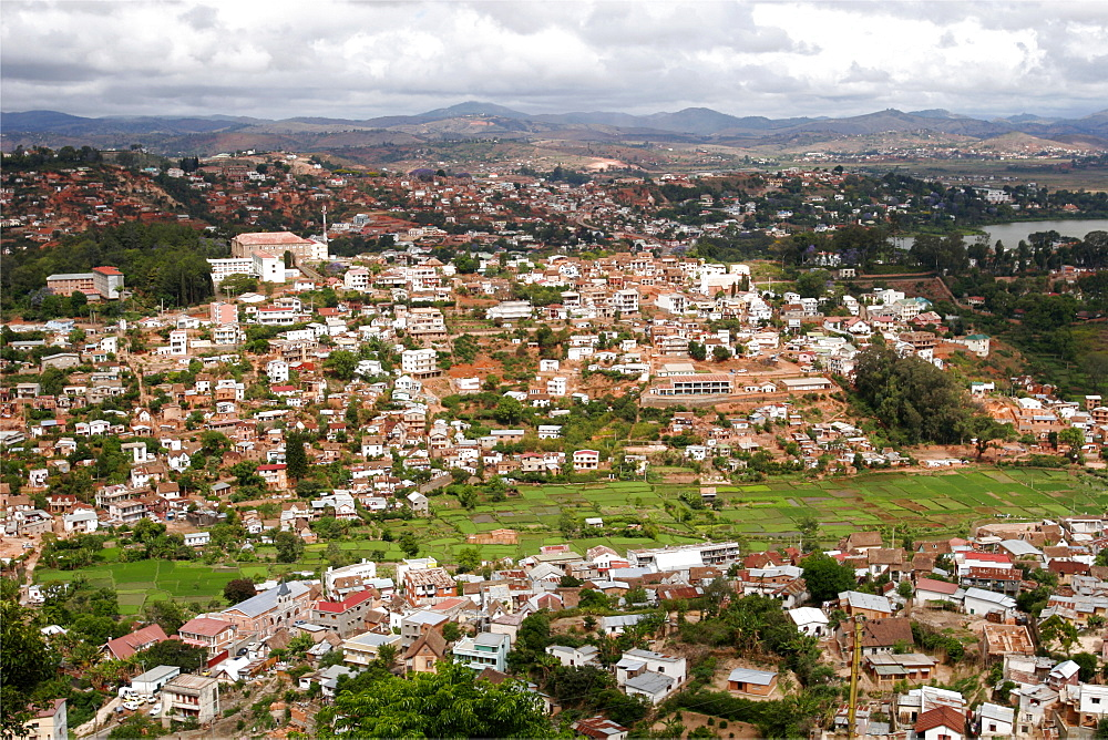 View over Tana, from the hill of the Queen Mother, Madagascar, Africa