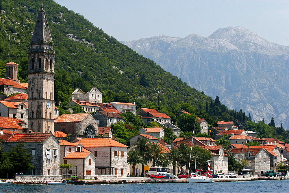 The village of Perast, Montenegro, Europe
