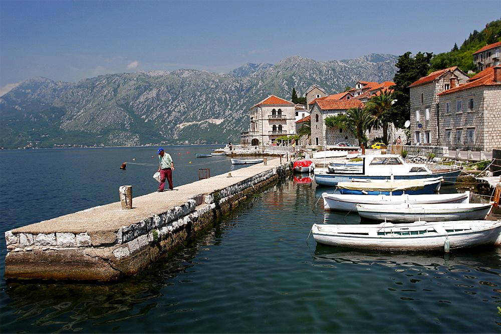 The village of Perast, Gulf of Kotor, Montenegro, Europe