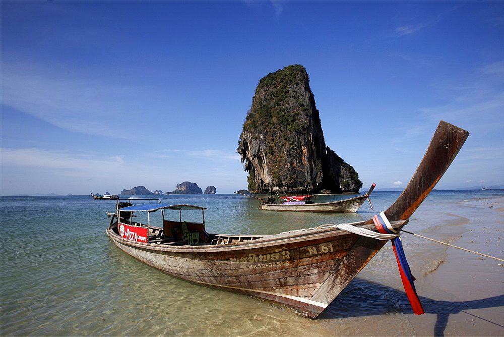 On the beach of Poda island, in the Krabi Gulf, Thailand, Southeast Asia, Asia