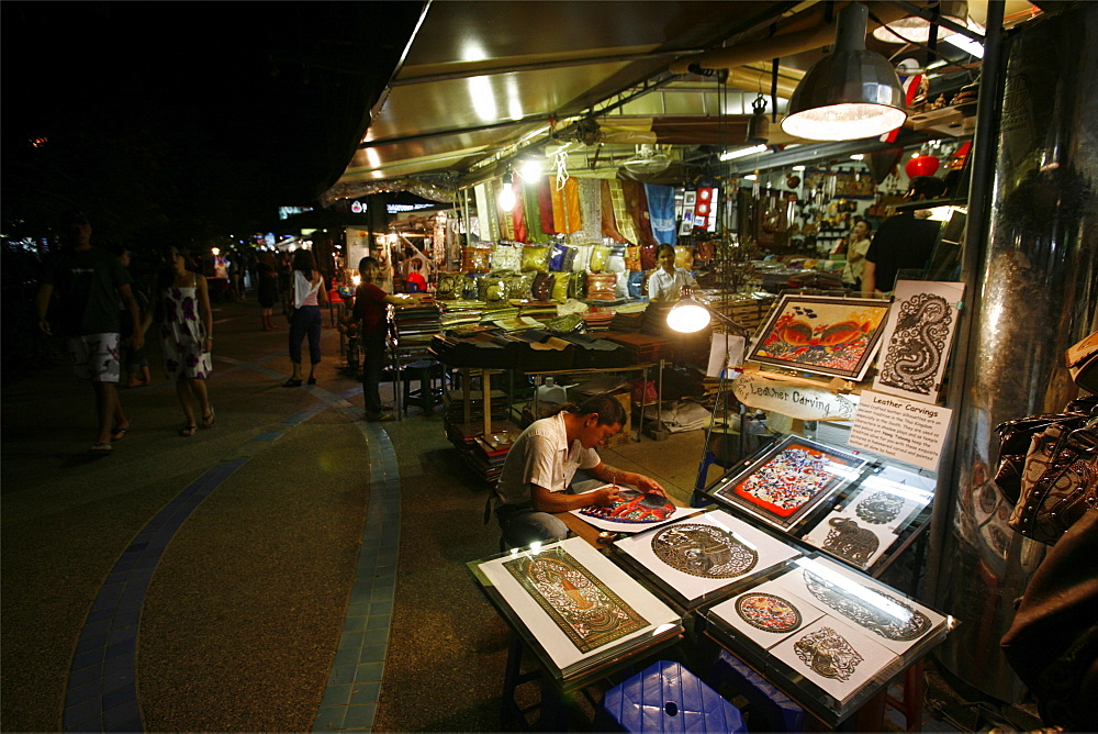 Night market in Ao Nang, Gulf of Krabi, Thailand, Southeast Asia, Asia