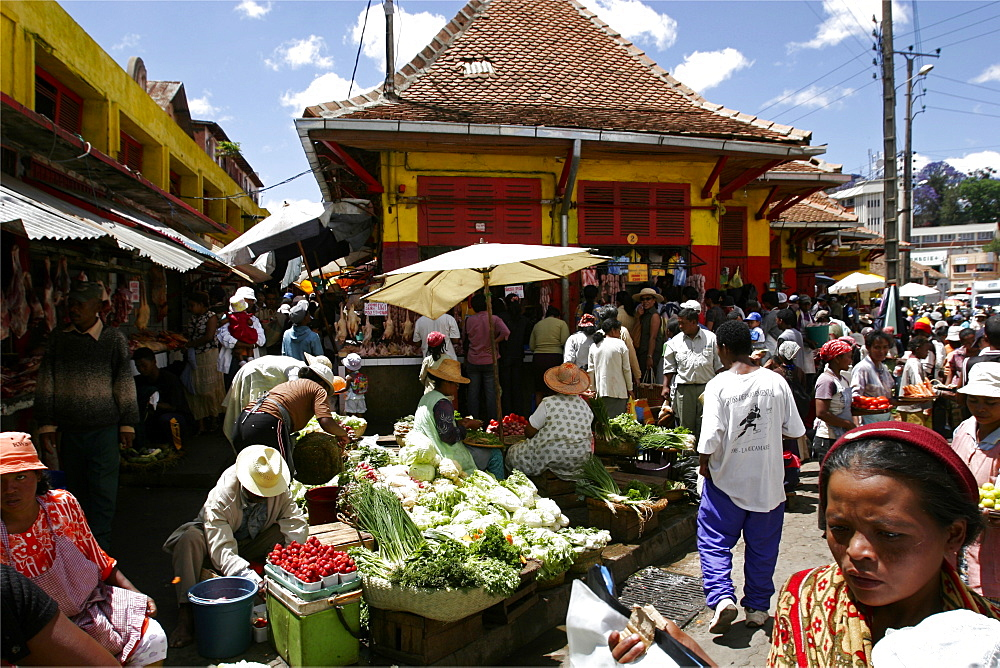 The central market of uptown in Antananarivo, Madagascar, Africa