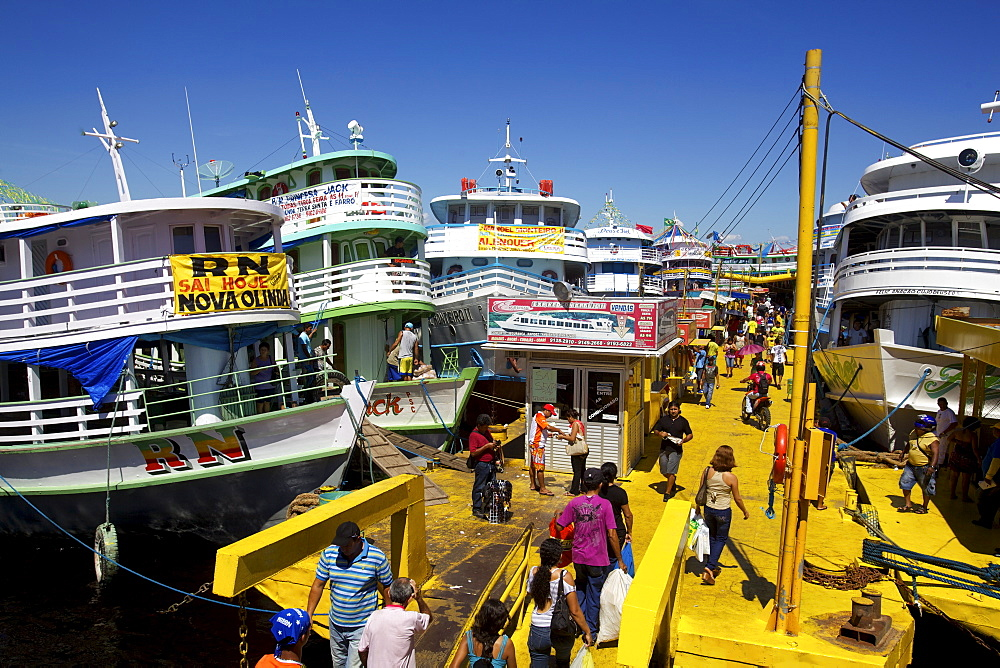 Boats leaving for Belem and Santarem, Manaus, Brazil, South America - 814-1397