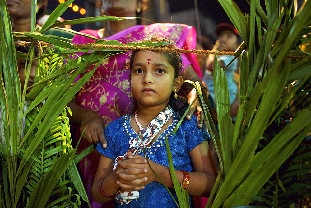 Christian celebration for St. Sebastian birthday in the village of Poovar on the south coast of Kerala, India, Asia