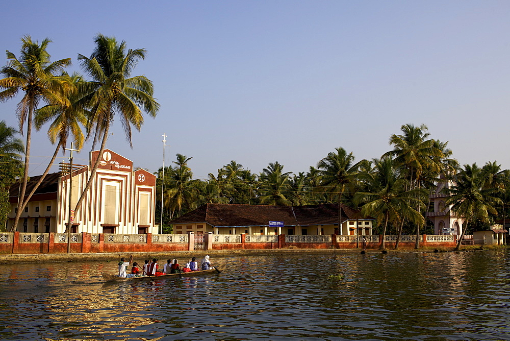 The Chavara Bhavan temple in the Backwaters, Allepey area in Kerala, India, Asia