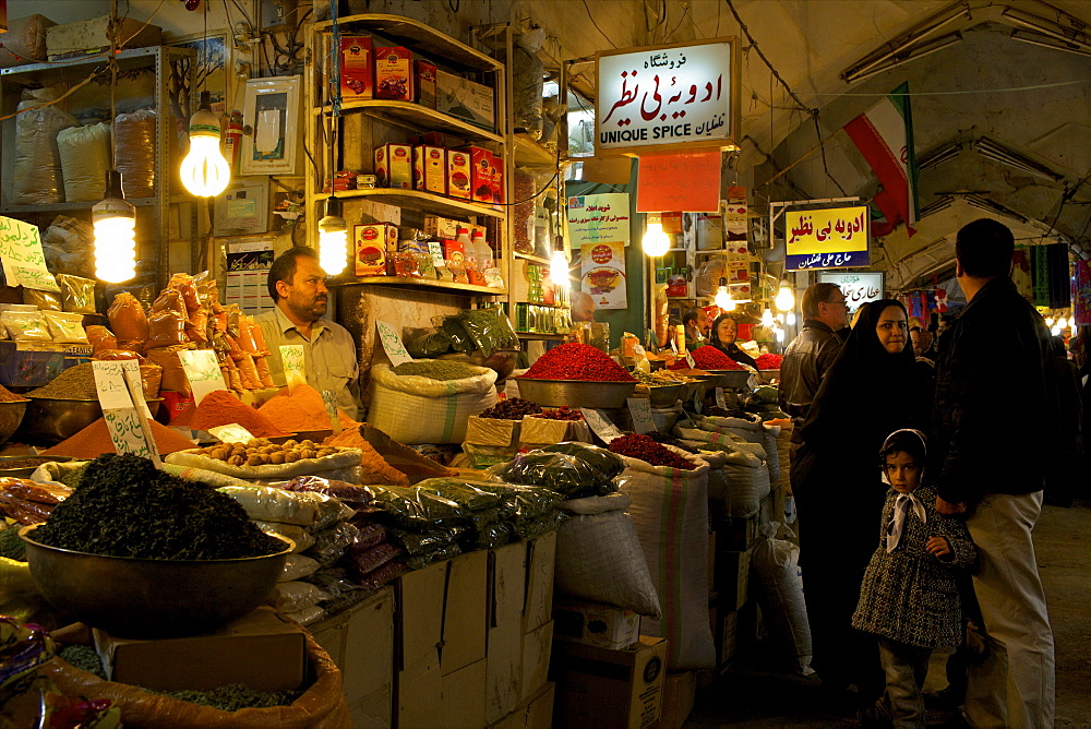 Inside the galleries of the Great Bazaar of Isfahan, Iran, Middle East - 814-1513