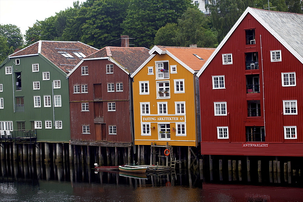 Wooden houses, Trondheim, Norway, Europe  - 814-1554