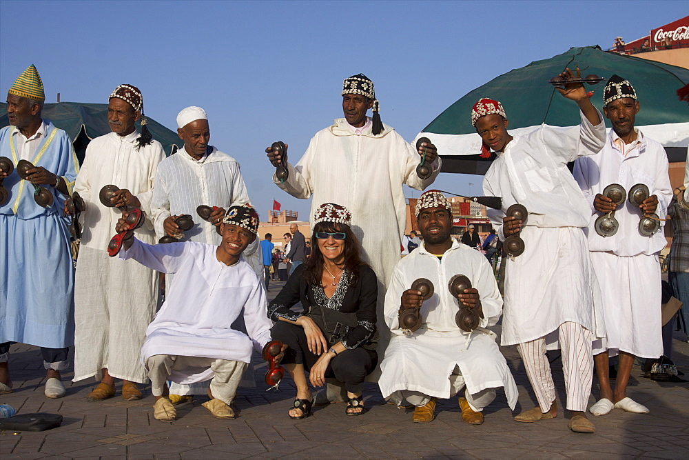On the Djemaa el Fna square, Marrakech, Morocco, North Africa, Africa