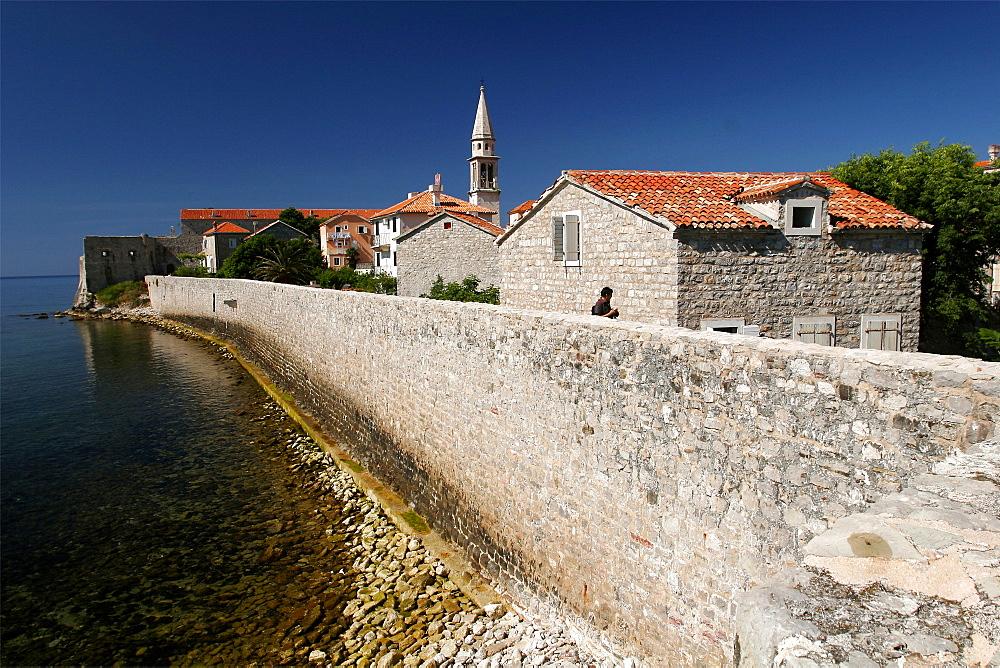 The walls of Budva, Montenegro, Europe