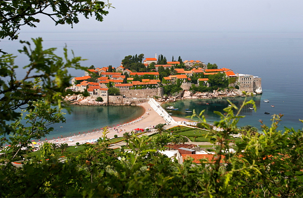 The island hotel of Sveti Stefan, Montenegro, Europe