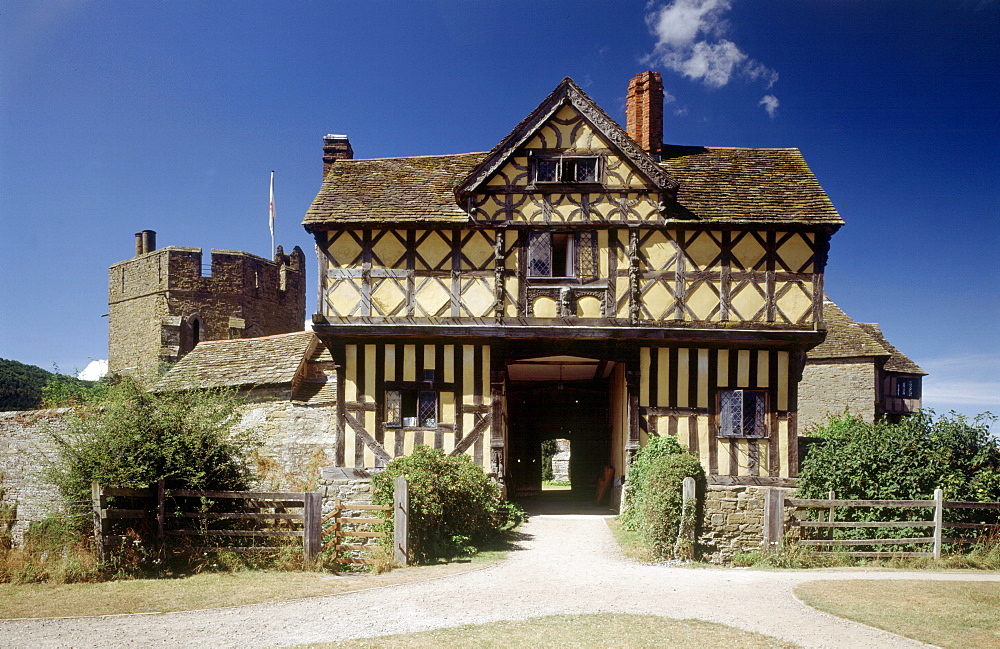 Gatehouse, Stokesay Castle, Shropshire, England, United Kingdom, Europe