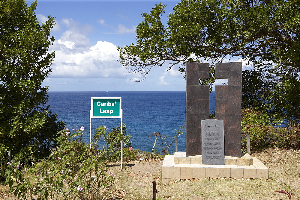 Caribs' Leap Memorial, Leapers Hill (Le Morne de Sauteurs), Grenada, Windward Islands, West Indies, Caribbean, Central America