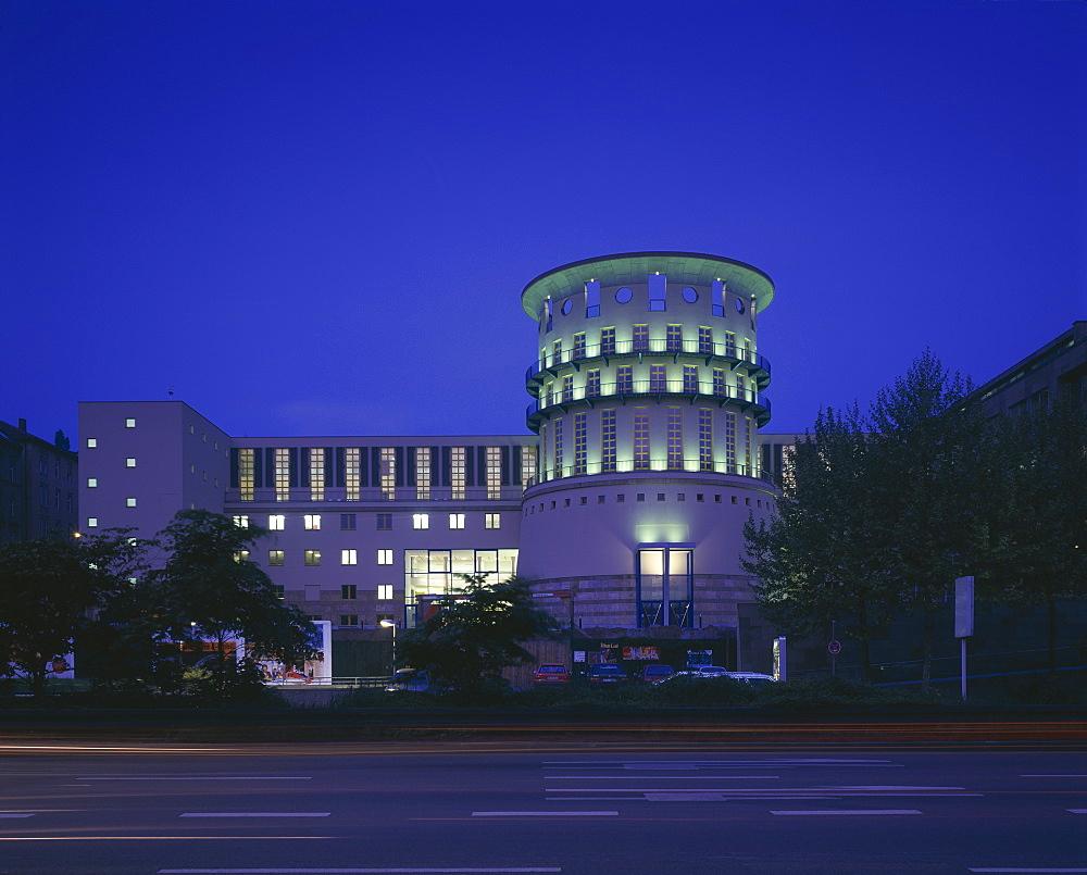 State Music School, built between 1987 and 1999, Stuttgart, Baden-Wurttemberg, Germany, Europe