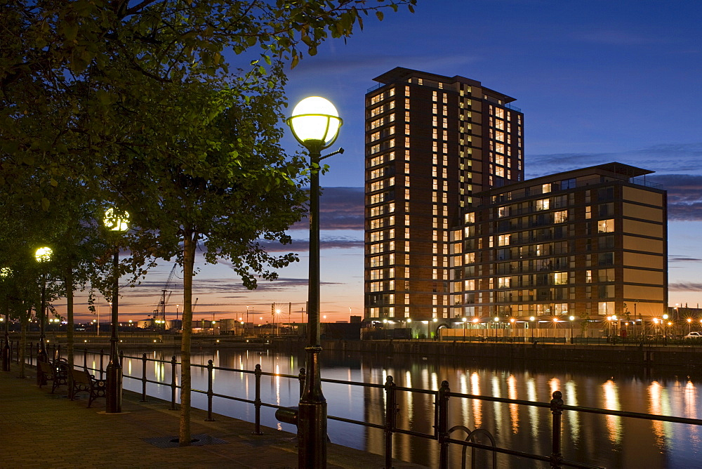 City Lofts, architects Conran and Partners, Dock 9, Salford Quays, Manchester, England, United Kingdom, Europe