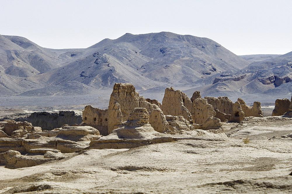 Jiaohe city ruins near Turfan, Xinjiang, China, Asia