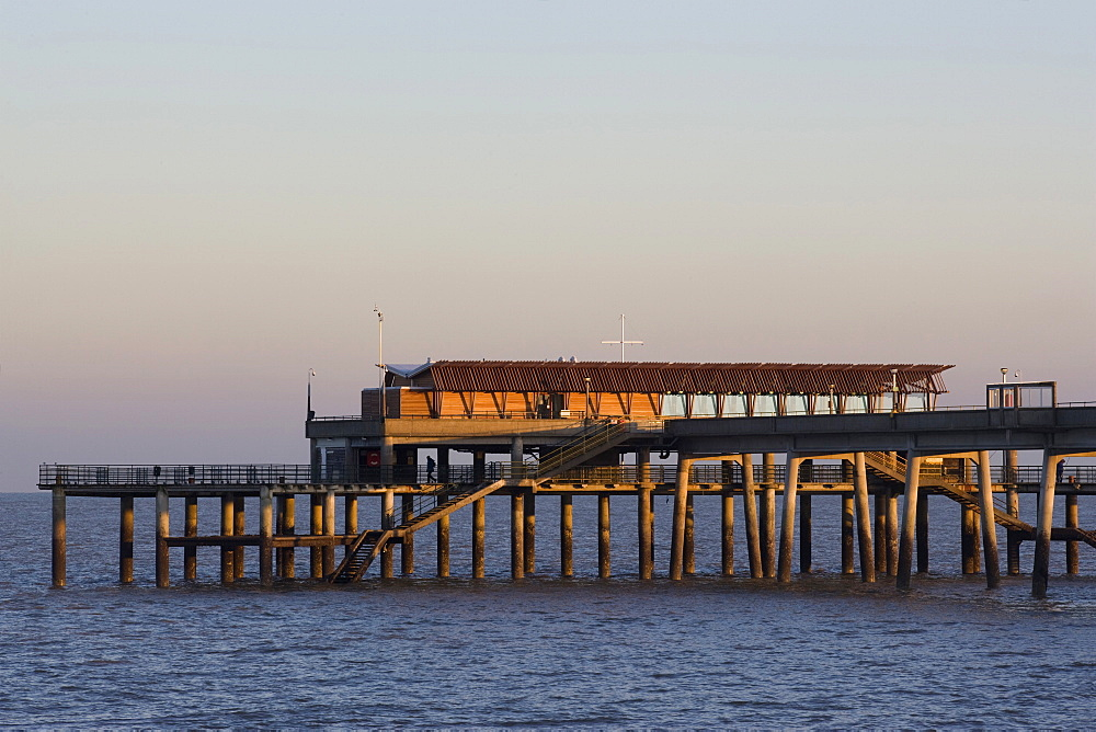 Jasin's Restaurant, architects Niall Mclaughlin, Deal Pier, Deal, Kent, England, United Kingdom, Europe - 815-2144